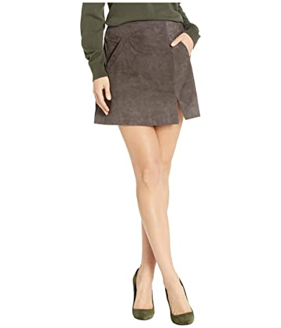 Blank NYC Suede Skirt w/ Side Slit (French Grey) Women