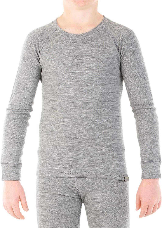 MERIWOOL Kids Unisex Long Sleeve New mail order Thermal Lightweight Merino Attention brand Wool