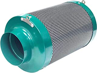 MELONFARM 4 inch Air Carbon Filter and Odor Control Air Scrubber with 1050+IAV Australia Virgin Charcoal for Inline Fan Re...