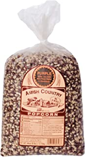 Amish Country Popcorn - Old Fashioned Purple Popcorn - Non GMO, Gluten Free, Microwaveable, Stovetop and Air Popper Friendly - with Recipe Guide (6 Lb)