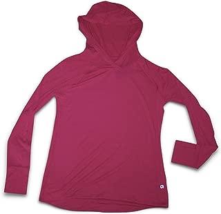 GAP Fit Women's L/S Hoodie Tee Shirt (Medium) Red Hoody T-Shirt 837843