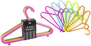 Royle Pack of 96 Kids Hangers 4 Bright Colours Baby Child Coloured Plastic Coat Clothes