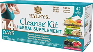 Hyleys Tea 14 Days Cleanse Kit - 42 Tea Bags (100% Natural, Sugar Free, Gluten Free and Non-GMO)