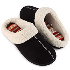 59a8b6bba11 ULTRAIDEAS Women s Comfort Memory Foam Slippers with Warm Fle .