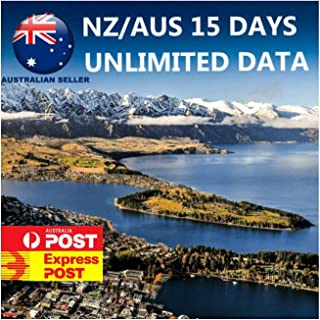 15 Days New Zealand/Australia 2-in-1 Travel SIM Card | Unlimited Data | Plug and Play | Network Coverage by Optus and 2 De...