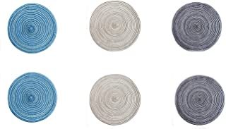 Horbous Coasters Japanese Placemat Trivet in Japanese Bock glass Braided Bottom Cup Japanese Drink Coaster Table Place Mat Home Decoration Cup Mat(Pack 3,6) (6 PCS)