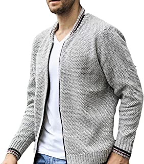 Men's Winter Coat Sale Leisure Baseball Collar Thickening Knitted Jacket