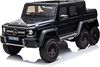 Licensed Mercedes Benz AMG G63 6x6 Electric Kids Ride on Car with Remote Control, 4 Motors, Openable Doors, Pull Handle, S...