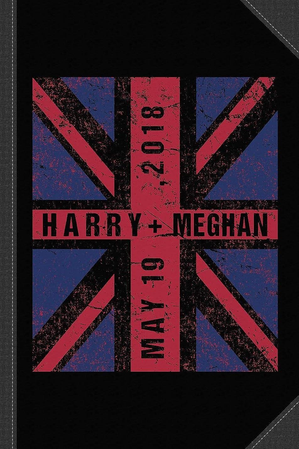 発行する軸敬Harry Plus Meghan Royal Wedding Union Jack Journal Notebook: Blank Lined Ruled For Writing 6x9 120 Pages