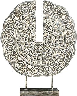 Belssia Candelabro Ramas Metal Plateado 14x9x14 cm