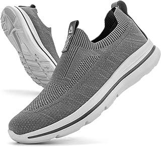 ODCKOI Herren Slip on Sneakers Mesh Atmungsaktiv Laufschuhe Bequem Turnschuhe Outdoor Fitness Sportschuhe Leichtgewichts S...