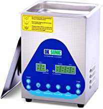 Professional Ultrasonic Cleaner - DK SONIC Sonic Cleaner with Heater and Basket for Denture,Coins,Small Metal Parts,Record,Circuit Board,Daily Necessaries,Tattoo Equipment,Lab Tools,etc(2L 60W)