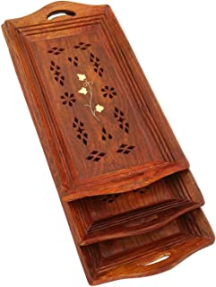 Best wooden tray set Reviews