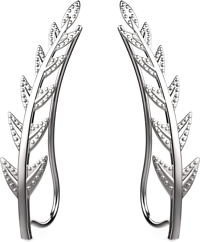 Feramox Ear Super intense SALE Spasm price Crawler Cuff Earrings Climber Silver St Sterling