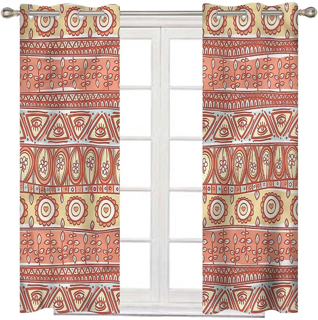 Yellow and online shop Brown Blackout Curtain Liners Long Large special price Inch 63 Fol Native