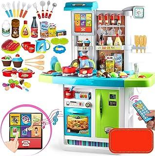音響照明付き多機能キッチン玩具、無料アセンブリ、子供用シェフロールプレイング、人工食器