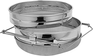 MorNon Stainless Steel Honey Strainer Double Sieve, Bee Keeping Equipment Filter