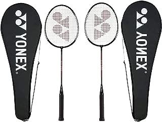 YONEX GR 303 Badminton Racket 2018-19 Professional Beginner Practice Racket with Full Cover Steel Shaft - Pack of 2