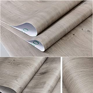 Self Adhesive Gray Oak Wood Contact Paper Shelf Liner for Bathroom Kitchen Cabinets Countertop Table Desk Door Decal 24x117 Inches