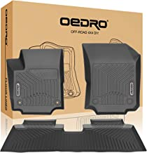 oEdRo Floor Mats Compatible for 2018-2020 Chevrolet Equinox, Unique Black TPE All-Weather Guard Includes 1st and 2nd Row: Front, Rear, Full Set Liners