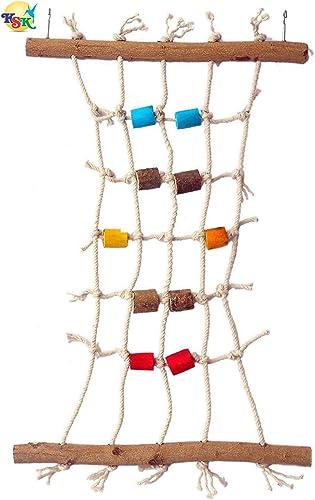 KSK Untreated Cotton Rope Climbing Net-Small Bird