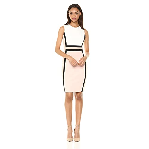 e760bdc2182d6 Calvin Klein Women s Sleeveless Color Block Sheath Dress