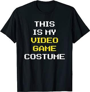Video Game Costume Halloween Gamer Gaming Nerd Lazy Easy T-Shirt