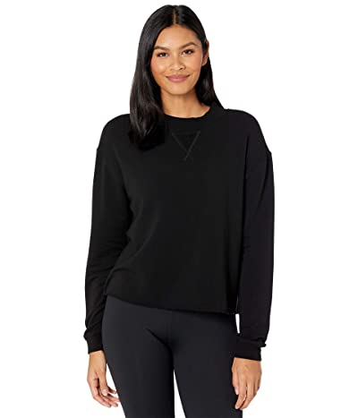 YEAR OF OURS Mock Neck Sweatshirt (Black) Women