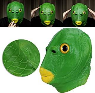 Natural Latex Animal Masks Head Face Cover, Halloween Costume Party Adult Animal Cosplay Prop, Plenty of Space And Breatha...