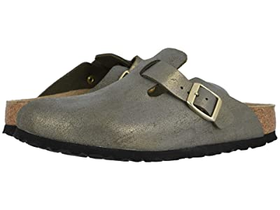 Birkenstock Boston (Washed Metallic Stone Gold Leather) Women
