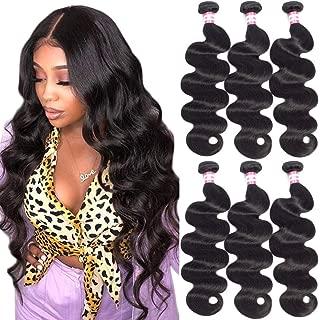 B&P Hair Human Hair Bundles 100% Unprocessed 9A Brazilian Hair Bundles Body Wave Bundles 8 10 12inches