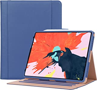 Procase iPad Pro 12.9 Case 2018 3rd Generation, Stand Folio Cover Protective Case for Apple iPad Pro 12.9 Inch 2018 Model A1876 A2014 A1895 A1983, Support Apple Pencil Charging –Navy