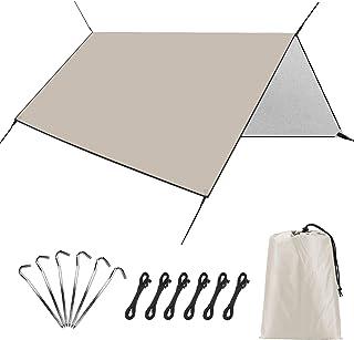 防水タープ Linkax タープ テント 遮熱 UVカット 耐水加工 サンシェード キャンプ アウトドア ポータブル 収納袋付き 多サイズ (3*3m/3*4m/3*5m)2-6人用