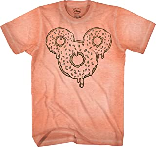 Mickey Mouse Donut Tie Dye Classic Vintage Disneyland World Mens Adult Graphic Tee T-Shirt Apparel