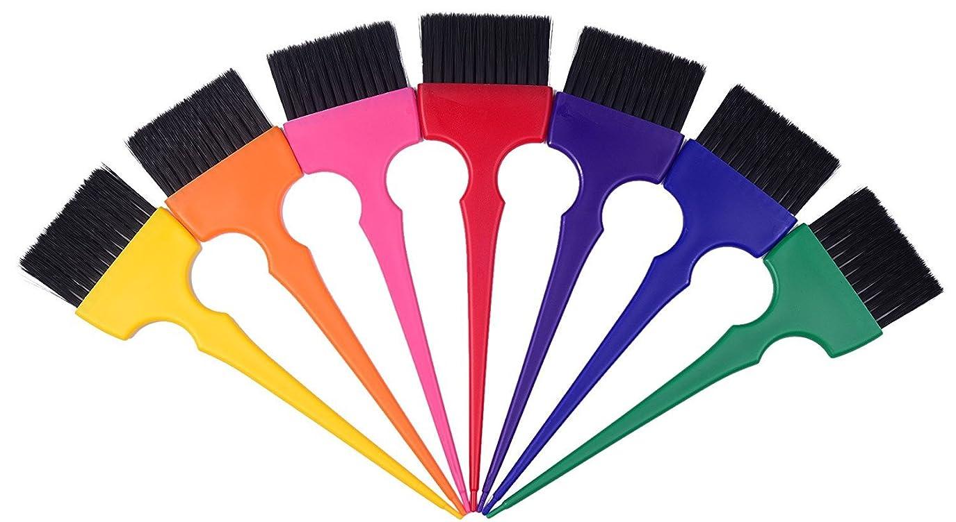 フィットネス入る限りなくヘアカラーリングブラシキットカラーリングアプリケーターティントブラシセット-7色?