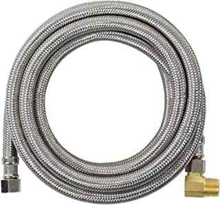 Certified Appliance Accessories Braided Stainless Steel Dishwasher Connector with Elbow, 10ft