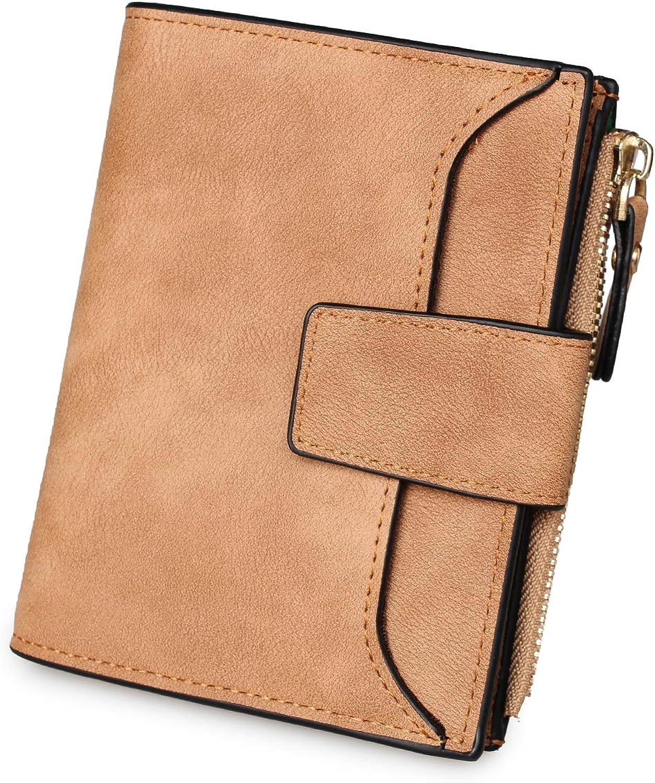 Imeetu Ladies Small Wallets PU Leather Wallets Minimalist Coin Purse Money Clips