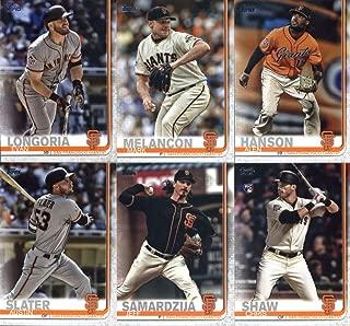 2019 Topps Master (Series 1 & 2, Update) Baseball San Francisco Giants Team Set of 29 Cards: Dereck Rodriguez(#4), Brandon Crawford(#53), Brandon Belt(#148), Hunter Strickland(#153), Johnny Cueto(#154), Buster Posey(#157), Steven Duggar(#190), Will Smith(#203), Joe Panik(#288), Ray Black(#333), Mark Melancon(#360), Evan Longoria(#390), Pablo Sandoval(#428), Alen Hanson(#478), Jeff Samardzija(#574), Austin Slater(#594), Chris Shaw(#611), plus more