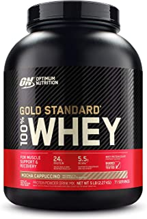 Optimum Nutrition Gold Standard 100% Whey Protein Powder, Mocha Cappuccino, 2.27 Kilograms