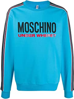 MOSCHINO UNDERWEAR Luxury Fashion Mens A171381120315 Light Blue Sweatshirt | Spring Summer 20
