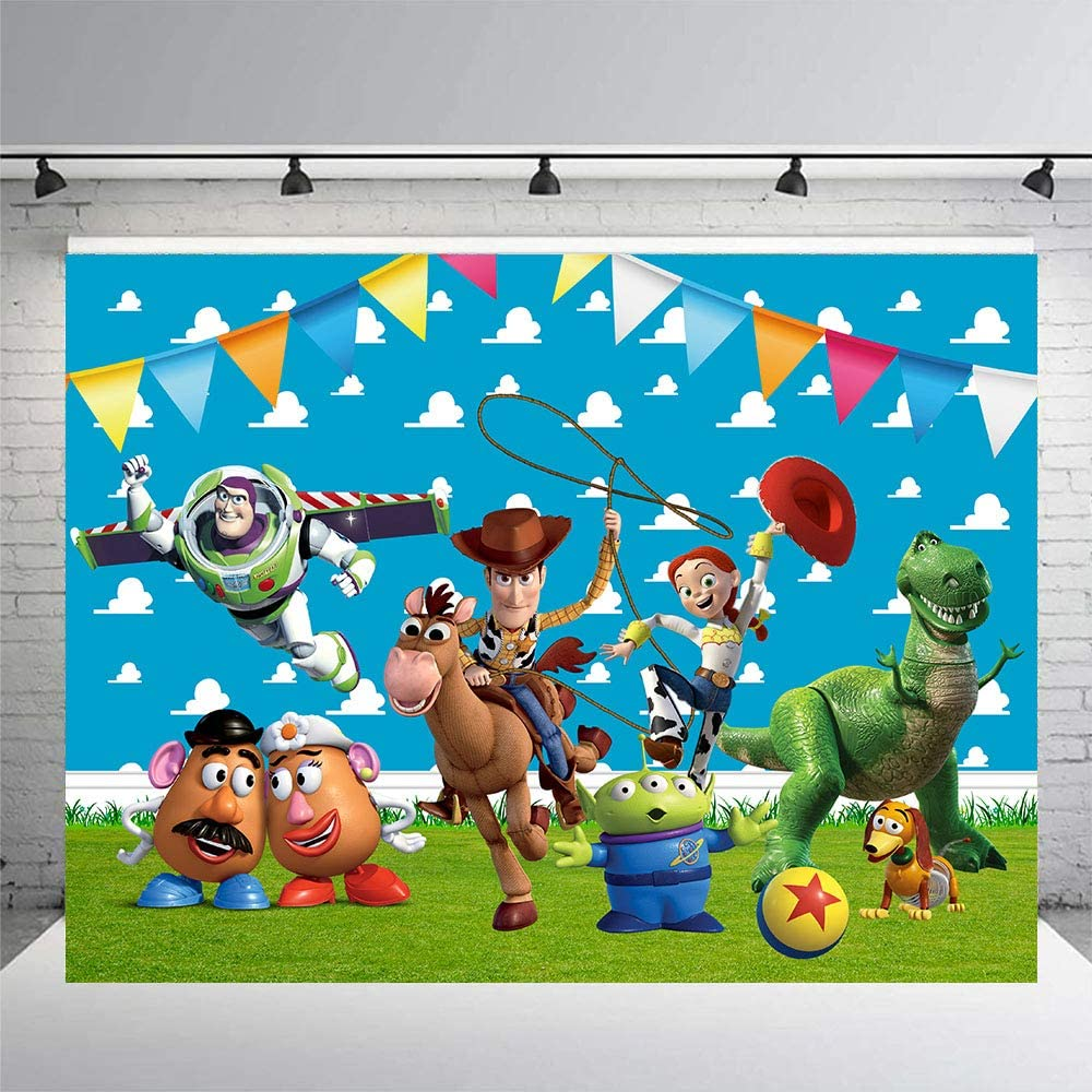 Toy Story Backdrop , For Birthday, Party Supplies, Decorations,