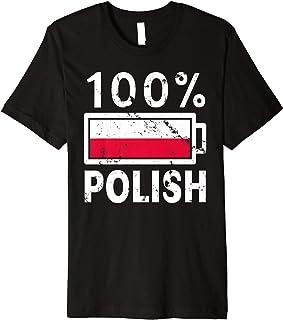 Poland Flag T-Shirt | 100% Polish Battery Power Tee
