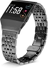 Shangpule Compatible for Fitbit Ionic Bands, Stainless Steel Metal Replacement Strap Bracelet Wrist Band Accessories for Ionic Smart Watch Women Man Large Small