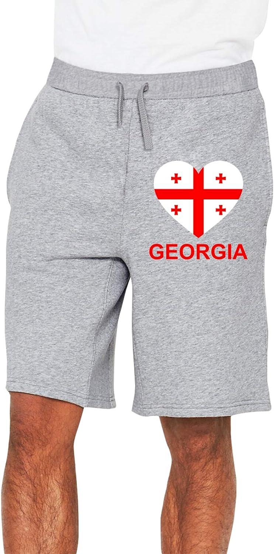 Love Georgia Men's Selling and selling Casual Popular popular Trouser Shorts Waist Drawstrin Elastic