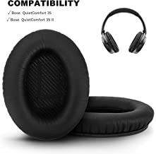 GEVO Headphones Replacement Earpads Compatible for Bose QuietComfort QC35 / QC35 II Headphones with 'L and R' Lettering