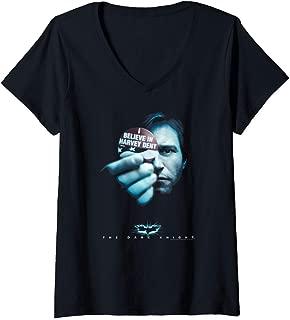 Womens Batman Dark Knight Harvey Dent V-Neck T-Shirt