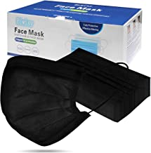 Biwisy 50pcs 3-Ply Disposable Face Mask Crowded Places with Elastic Earloop Masks (50PCS, Black)