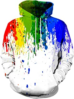 Unisex Graphic Print Hoodies 3D Colorful Novelty Design Long Sleeve Sweaters with Pocket