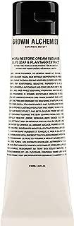 Grown Alchemist Hydra-Restore Cream Cleanser - Olive Leaf & Plantago Extract Gentle Face Wash (100 Milliliters, 3.34 Ounces)
