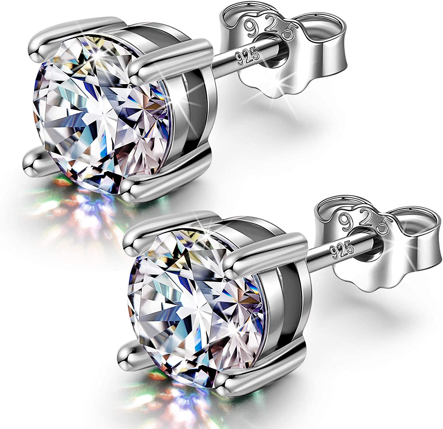 Max 69% OFF NINANANA Sterling Silver Super intense SALE Earrings Austria Zirconia from Cubic